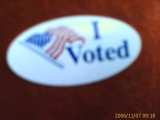 11-7-2006: I voted. Did you?