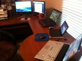 1-1-2011: Puter desk is all clean!