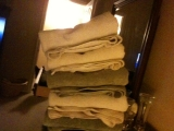 3-29-2011: Leaning tower of towels