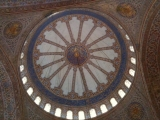 5-18-2011: Ceiling of Blue Mosque, Istanbul Turkey
