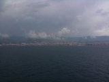 5-21-2011: The southern toe of Italy as we pass it by