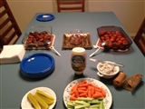 2-3-2013: The start if our Super Bowl feast